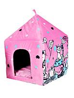 Cat Dog Bed Pet Baskets Cartoon Keep Warm Tent Blushing Pink