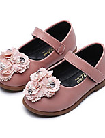 Girls' Flats First Walkers Leatherette Spring Fall Casual Walking First Walkers Magic Tape Low Heel Blushing Pink Gray Flat