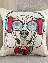 1 Pcs Creative Fashion Dog Printing Pillow Cover Cotton/Linen Pillow Case