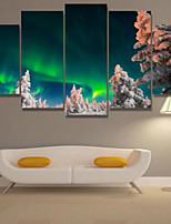 Art Print Landscape Modern Five Panels Horizontal Print Wall Decor For Home Decoration