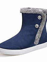 Women's Boots Comfort PU Spring Casual Blue Gray Black Flat