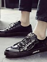 Da uomo Sneakers Comoda PU (Poliuretano) Primavera Autunno Casual Comoda Piatto Nero Viola Piatto