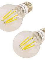 7W Ampoules Globe LED 6 COB 600 lm Blanc Chaud V 2 pièces