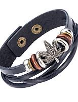 Жен. Муж. Кожаные браслеты Бижутерия Природа Мода Кожа Сплав Бижутерия Назначение Особые случаи Спорт