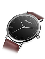 REBIRTH Women's Fashion Watch Chinese Quartz PU Band Brown