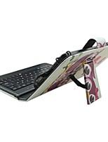 Ipad чехол с клавиатурой usb английская версия 7-8 дюймовый универсальный мультфильм сова pu кожаный чехол для ipad mini123 mini4