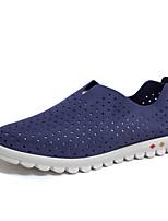 Men's Loafers & Slip-Ons Comfort Suede Spring Casual Comfort Flat Heel Light Brown Blue Under 1in