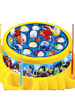 Fishing Toys For Gift  Building Blocks Model & Building Toy Circular Plastic Toys