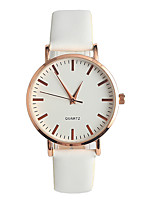 Women's Fashion Watch Japanese Quartz / Genuine Leather Band Elegant Casual White