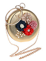 Women Evening Bag Polyester All Seasons Formal Event/Party Wedding Bowling Flower Kiss Lock Red Silver Black Gold Blue