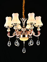 Pendant Light Zinc Alloy Feature for Crystal Mini Style Metal Bedroom Study Room/Office Indoor 6 Bulbs