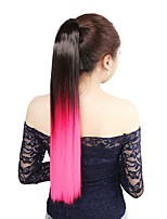 Neitsi 1Pcs 22'' 115g Striaght Wrap Around Ponytail Hair Extensions Synthetic Ombre T-Pink#