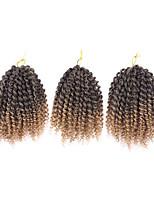 3Pcs/Pack 8inch Crochet Hair Extensions Curly Crochet Braids Hair Synthetic Braiding