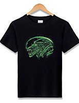 Alien T-shirt Cosplay Costumes Anime Hoodies & Sweatshirts Angel/Devil Ghost Monster Movie/TV Theme Costumes Movie Cosplay T-shirt Halloween Carnival