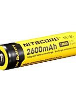 2PCS NITECORE NL1826 2600mAh 3.7V 9.6Wh 18650 Li-ion Rechargeable Battery