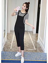 Women's Daily Simple Summer T-shirt Pant Suits,Striped Round Neck Short Sleeve Micro-elastic