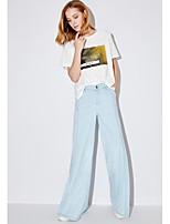 Damen Solide Druck Einfach Alltag Normal T-shirt,Rundhalsausschnitt Kurzarm Baumwolle Mikrofaser