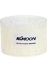 Kkmoon 100pcs airbrush dispositivi di eyedroppers rotoli di plastica dell'occhio della pipetta per il trasferimento di liquido e la