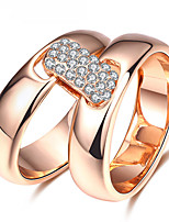 Ring Statement Rings AAA Cubic Zirconia Basic Euramerican Fashion Personalized Luxury Simple Style British Classic Zircon Rose Gold Plated Jewelry