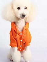 Chien Sweatshirt Vêtements pour Chien Décontracté / Quotidien Uni Noir Orange Gris Rouge