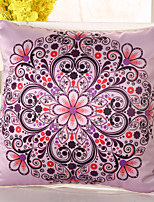 1 pcs Silk Pillow Cover Pillow Case,Floral Novelty Casual Retro Traditional/Classic Euro