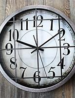 Ретро Абстракция Настенные часы,Круглый Новинки В помещении Часы