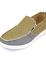 Men's Loafers & Slip-Ons Comfort Denim Fabric Spring Daily Casual Beige Blue Flat