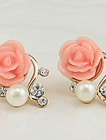 Stud Earrings Women's Girls' Euramerican Elegant Alloy Flower Rhinestone  Movie Jewelry Party Daily Casual  Earrings