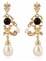 Drop Earrings Women's Girls' British Vintage Elegant Court Pearl  Earrings Movie Party Daily Casual Jewelry