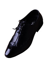 Men's Wedding Shoes Comfort PU Pigskin Spring Wedding Casual Comfort Black Flat
