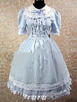 One-Piece/Dress Sweet Lolita Lolita Cosplay Lolita Dress Vintage Cap Short Sleeve Short / Mini Dress For Other