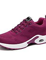 Women's Modern Fabric Flats Sneakers Daily Chunky Heel Blushing Pink Ruby Purple Black