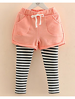 Baby Striped Leggings Spring 2017 Korean Style Girls' New Children's Wear Children's False Two Trousers