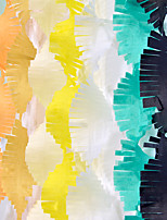 3M Party Streamers Tissue Paper Fringe Garland DIY Tassel Curtain Banner Photo Backdrop Wedding Birthday Showers Decoration