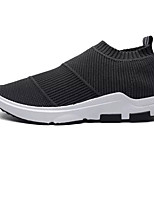 Men's Sneakers Light Soles Tulle PU Spring Fall Athletic Outdoor Light Soles Black Gray Blue Flat