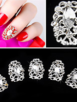 5 pcs Silver Dlassic Style Alloy Nail Patch 3D Nail Decoration