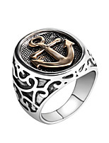Anchor Ring Jewelry Fashion Punk Style Anchor Ring