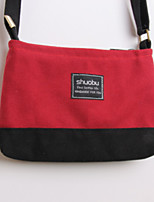 Women's Shoulder Bag Canvas All Seasons Casual Shopper Zipper Ruby