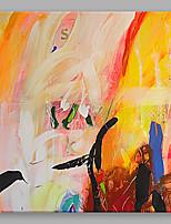 Ручная роспись АбстракцияАбстракция 1 панель Холст Hang-роспись маслом For Украшение дома