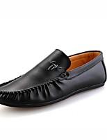 Для мужчин Мокасины и Свитер Удобная обувь Полиуретан Весна Лето Для прогулок Повседневный На плоской подошве Белый Черный Оранжевый Синий