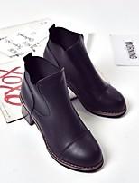 Для женщин Обувь на каблуках Кожа Полиуретан Весна Черный 4,5 - 7 см