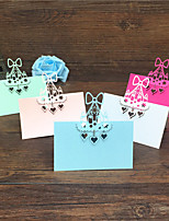 40pcs Birthday cake Laser Cut Baby Shower Party Table Name Place Cards Wedding Invitations Table Name Card Party Decoration