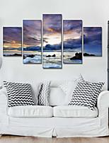 Art Print Landscape Modern Five Panels Horizontal Pigment Print Wall Decor For Home Decoration