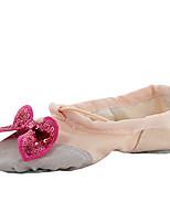 No Personalizables Niños Ballet Planos Interior Lazo(s) Tacón Plano Blanco Negro Beige Rojo Rosa