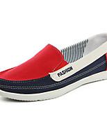 Для женщин На плокой подошве Удобная обувь Полотно Весна Повседневный Красный На плоской подошве
