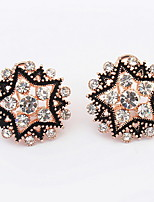 Euramerican  Elegant  Boutique Pentagram Rhinestone Stud Earrings Women's Daily Stud Earrings Movie Jewelry