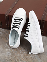 Men's Sneakers Comfort PU Summer Casual Comfort Flat Heel Black/White Gray Black 1in-1 3/4in