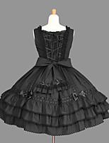 Women's Lolita Dress Cosplay Girl Dress Classic/Traditional Lolita Elegant Princess Cosplay Lolita Dress Fashion Short Sleeve Short / MiniTuxedo