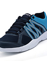 Men's Athletic Shoes Comfort PU Spring Fall Casual Comfort Flat Heel Black Gray Blue Flat