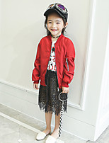 Girls' Fashion Solid Suit & Blazer,Polyester Spring Fall Long Sleeve